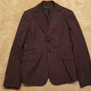 BCBCMaxazria brown striped blazer size M